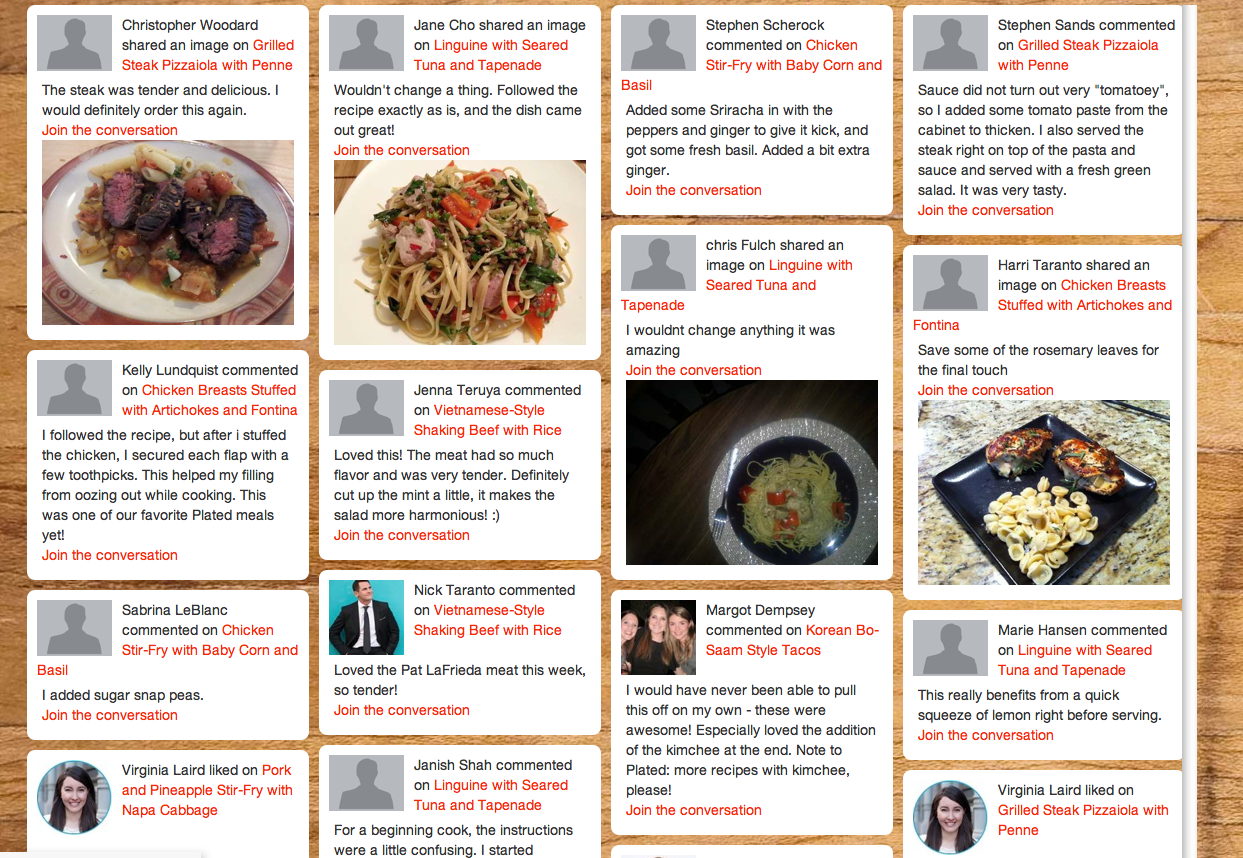 Backed with 14 million plated adds a social spin to its ready to plateds new social recipe site click to enlarge forumfinder Images