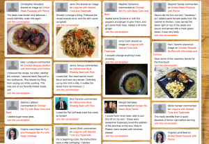 Plated's new social recipe site (click to enlarge)