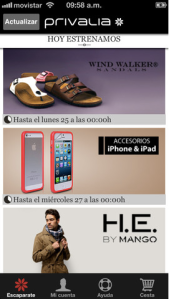 Privalia iOS app