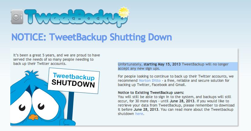 backupify notice