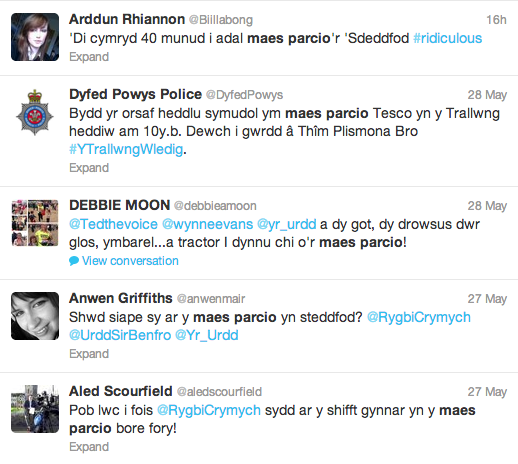 Welsh tweets