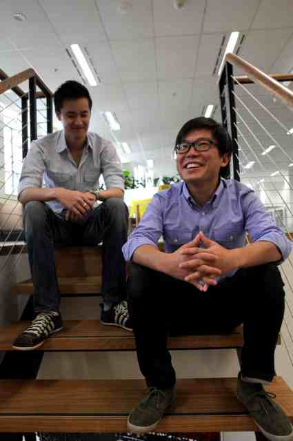 Jonathan Lui and Tim Fung, Airtasker's founders