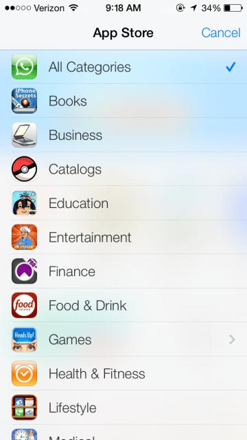 appcategories