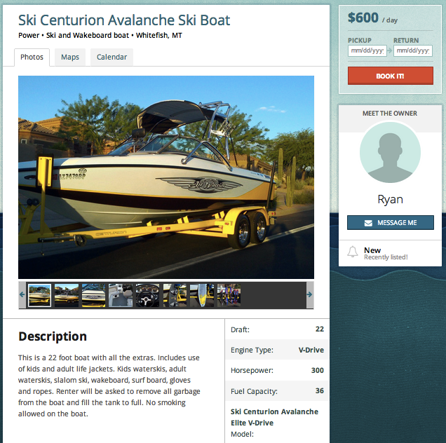 Boatbound Example listing