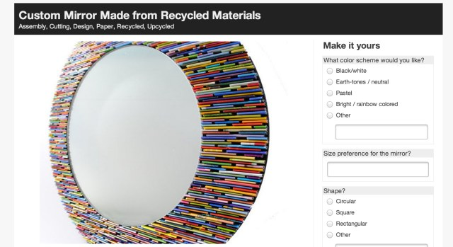 Custom Mirror Made from Recycled Materials , custom made with Makeably