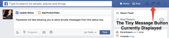 Facebook Status Composer Messaging