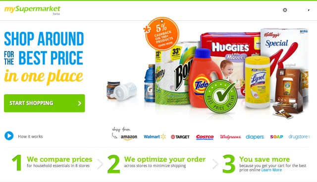 mySupermarket - homepage