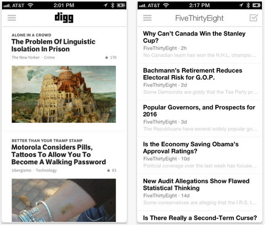 Digg Reader iOS
