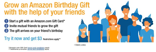Start or Join an Amazon Birthday Gift