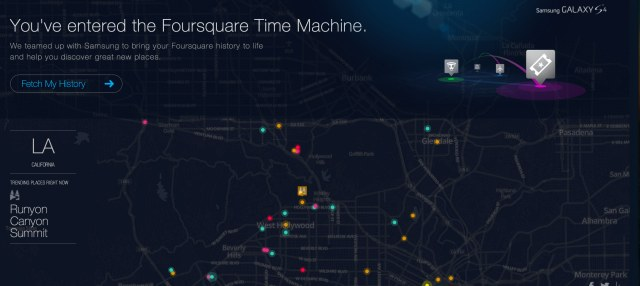 The Foursquare Time Machine