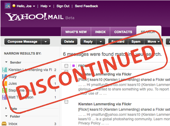 Switch to classic yahoo mail