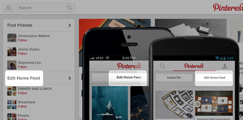 Pinterest's Mobile App Gets Path-Like Animations, Personalization