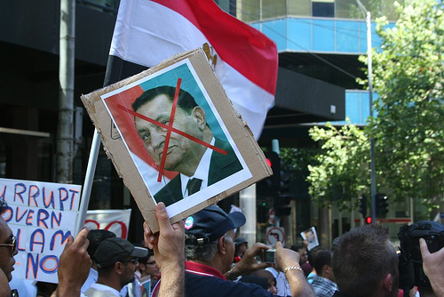 Egypt Uprising Solidarity protest Melbourne