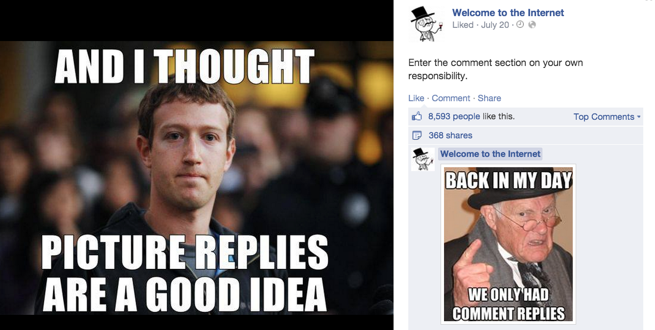 facebook photo comments and top comments?w=730&crop=1 memes give facebook fans a voice amidst comment chaos techcrunch