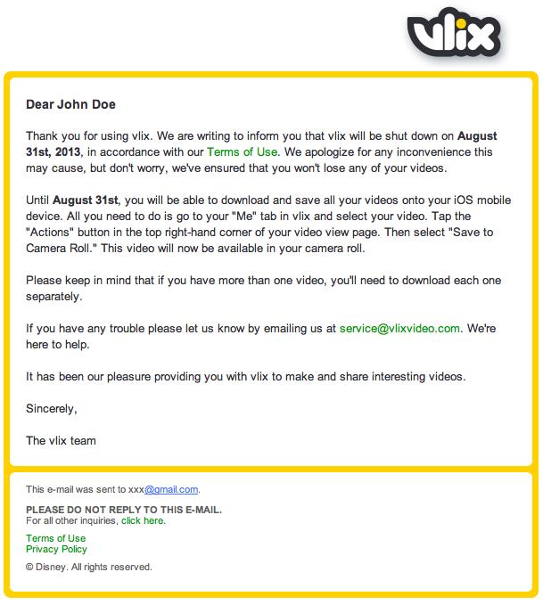 vlix shut down