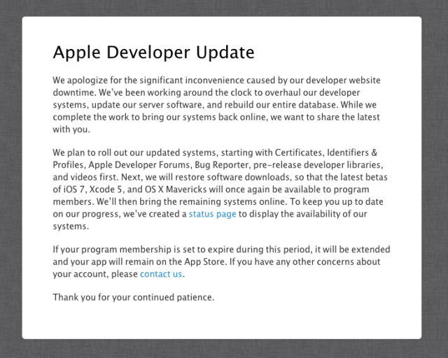 apple developer notice
