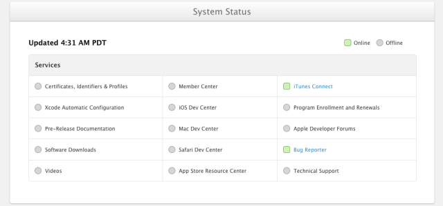 apple services status