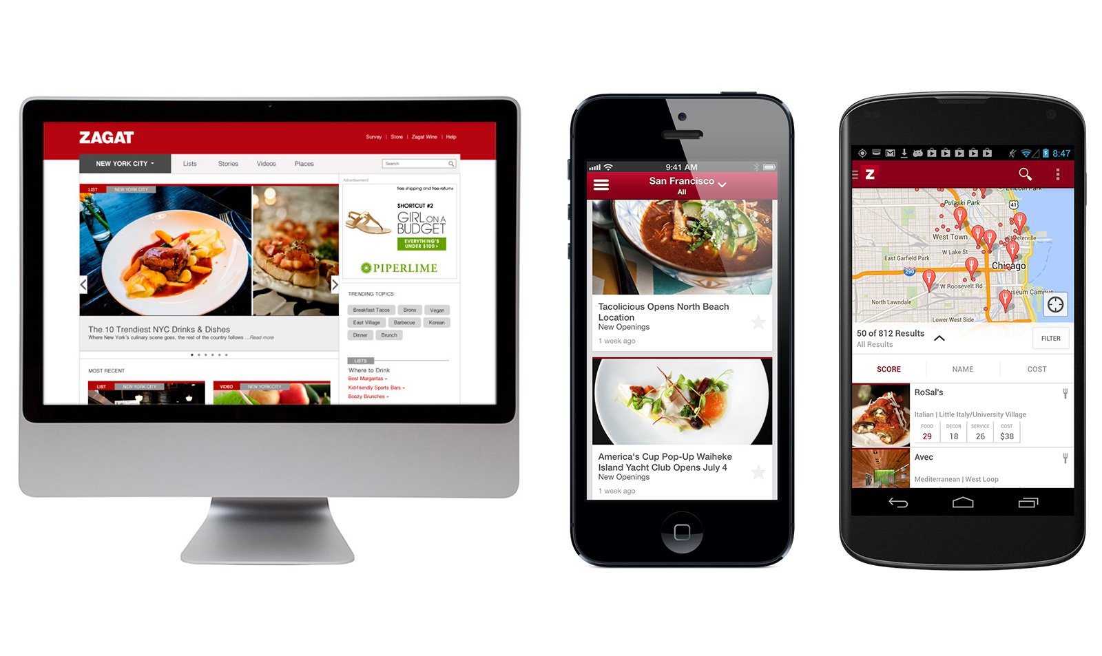 Google relaunches zagat s website and mobile apps no