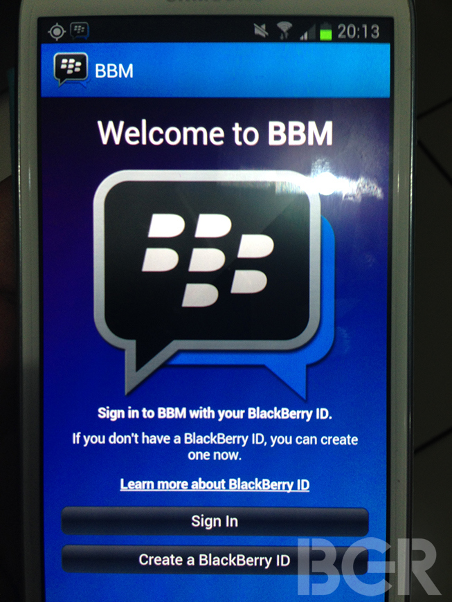 Blackberry Posts User Guides for iOS & Android Versions Of BBM Ahead