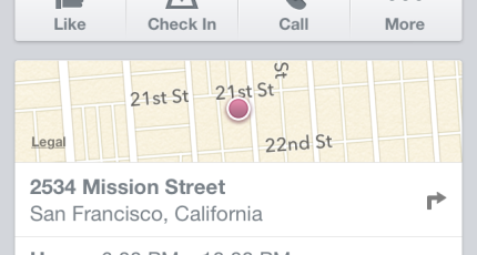 Facebook Makes Mobile Pages More Functional With OpenTable