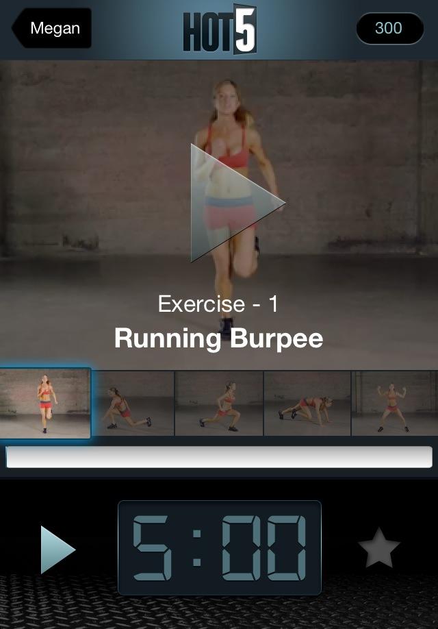 Hot5 fitness app