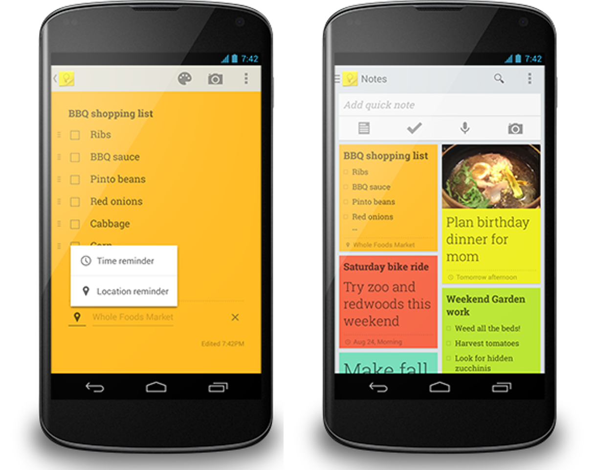 Google Updates Its Keep Note-Taking App With Reminders