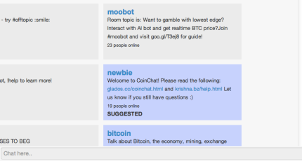 Coinchat Is!    A Chatroom Where Talking Sense Earns You Bitcoin -