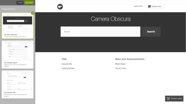 Theme Selection Screenshot