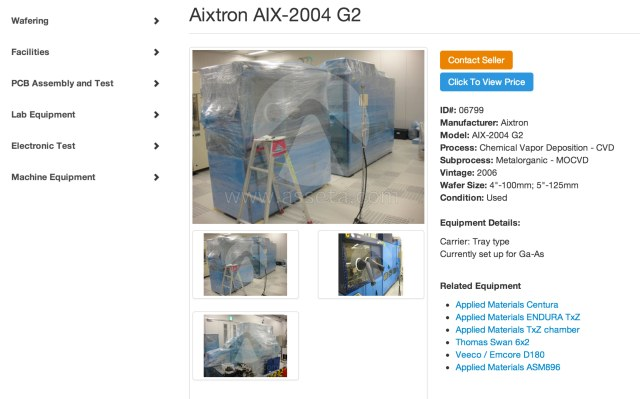 Used Aixtron AIX-2004 G2 for Sale | Asseta