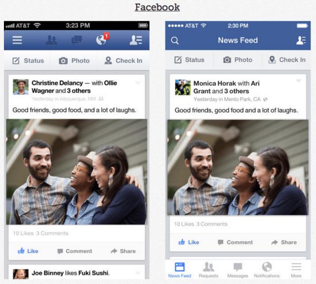 Facebook IOS 7