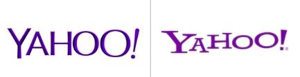old versus new logo yahoo