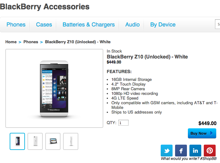 After Near-$1B Inventory Write-Down, BlackBerry Starts Selling