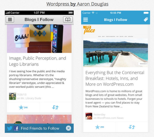 Wordpress iOS 7