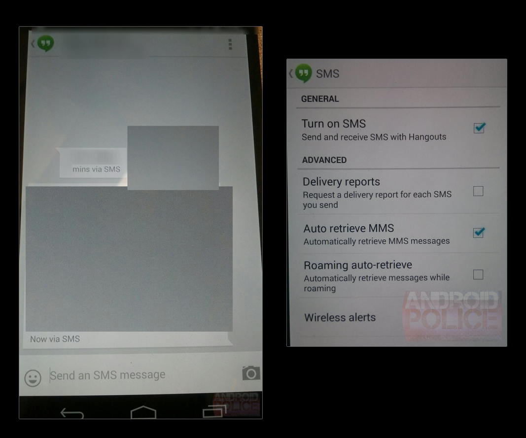 Hangouts 1 3 Will Reportedly Add SMS, Giving Android Its Own
