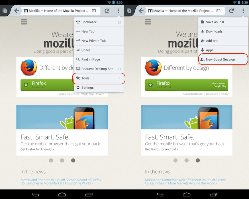Firefox Gets Guest Browsing Mode On Android, Web Audio API