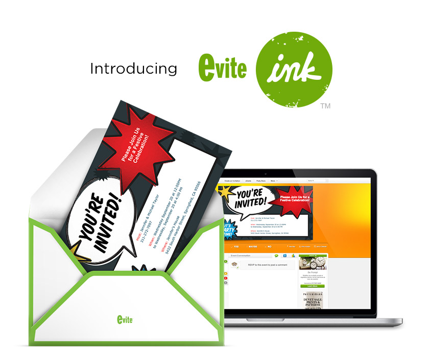 Evite Makes The Move To Printed Invites With Launch Of Evite Ink
