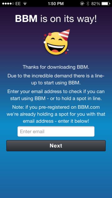 BBM queue