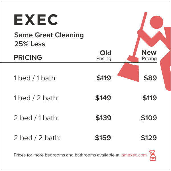 exec drops prices for its home cleaning service by 25 percent techcrunch