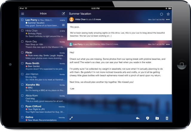US - Tablet - iPad Mini - Inbox and Conversation View