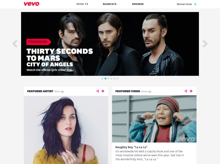 VEVO Relaunches Its Web And Mobile Sites To Streamline Music