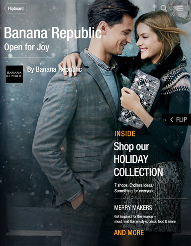 banana republic flipboard
