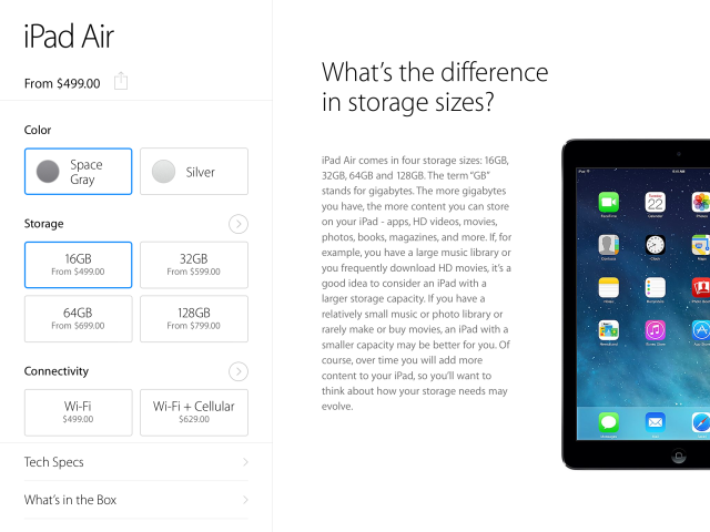 The First Apple Store App For iPad Nails Tablet Shopping