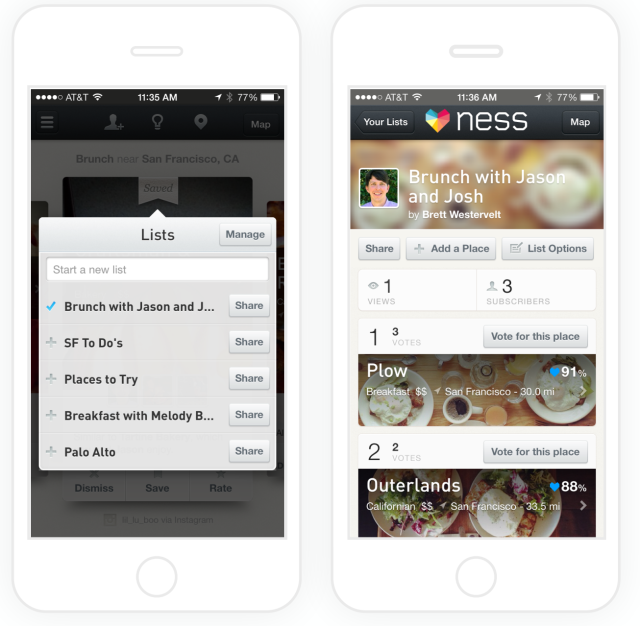 Restaurant Recommendation Engine Ness Now Helps Groups