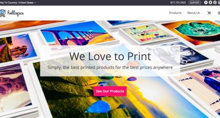 Print-On-Demand Network Print io Debuts Hellopics, A