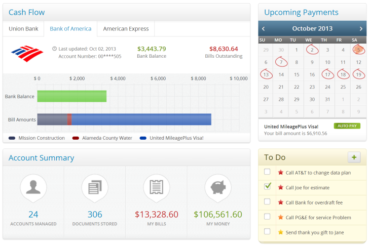 finovera lets you manage all your bills and statements in one place