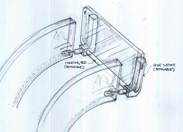 Sketch HTC Mount