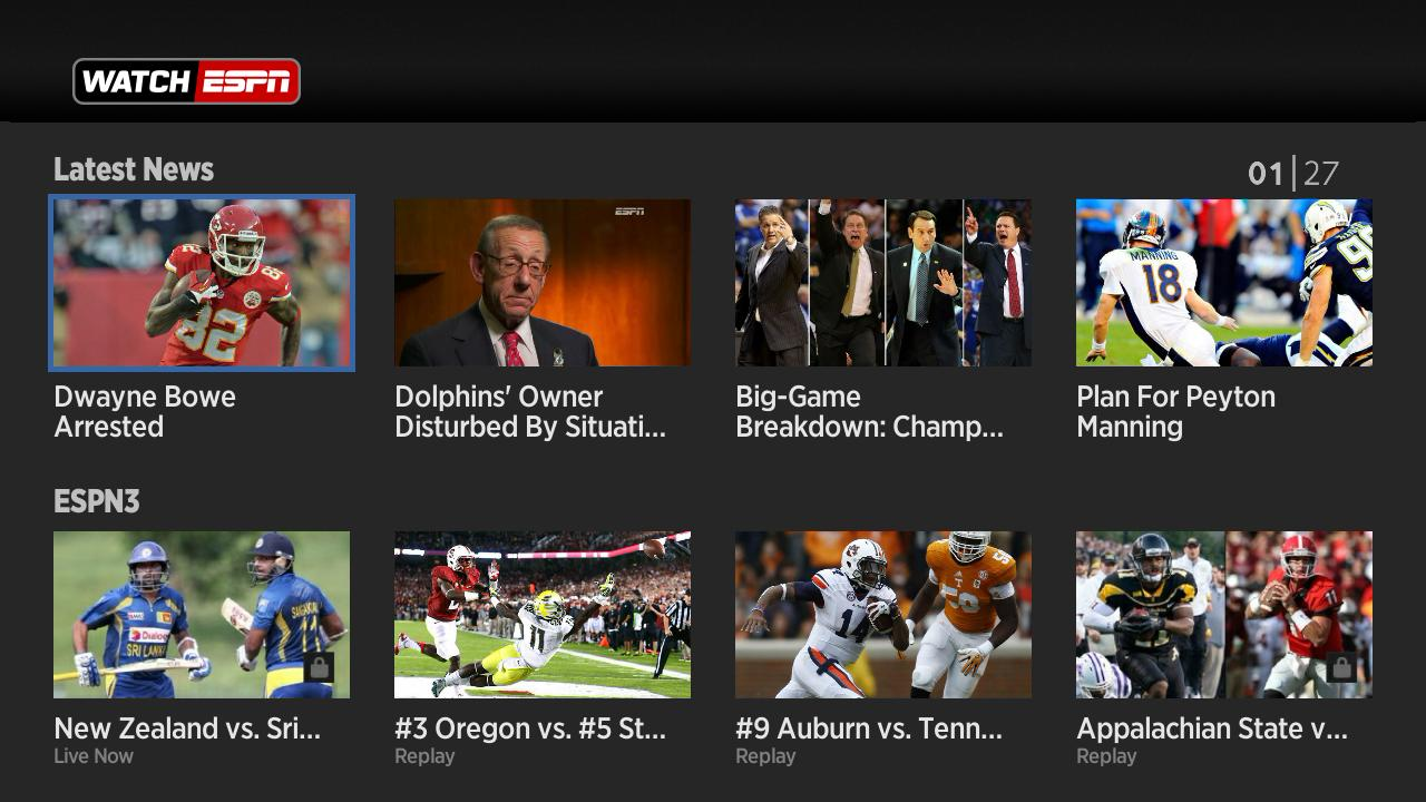 Roku Gets New Live Video Programming With WatchESPN And