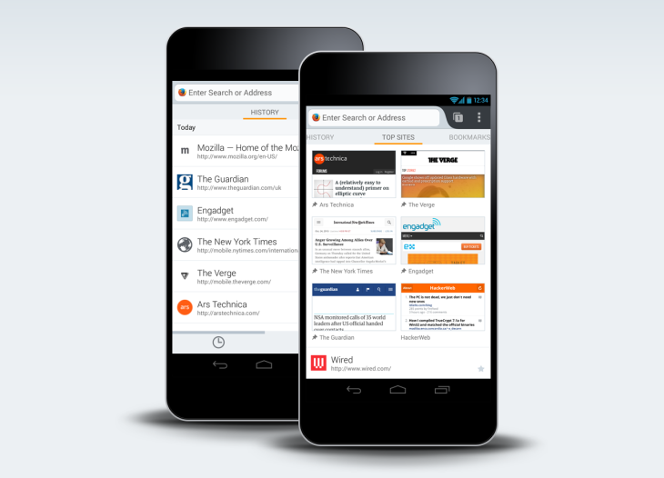 Firefox For Android Gets New Homescreen, Adds Bing And Yahoo