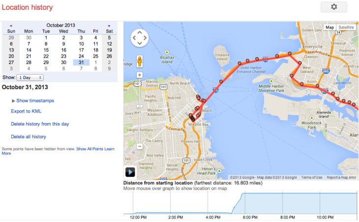 Google S Location History Browser Is A Minute By Minute Map Of Your Life Techcrunch