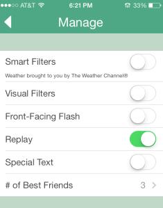 Snapchat options